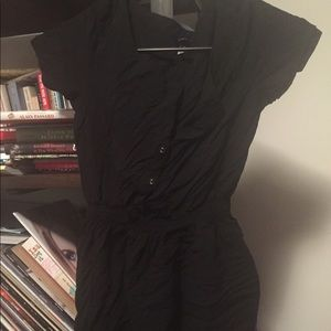 Divided by H&M black cotton Minidress, size 6
